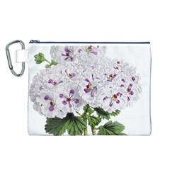 Flower Plant Blossom Bloom Vintage Canvas Cosmetic Bag (l)