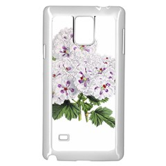 Flower Plant Blossom Bloom Vintage Samsung Galaxy Note 4 Case (White)