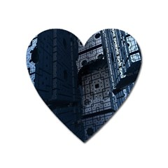 Graphic Design Background Heart Magnet
