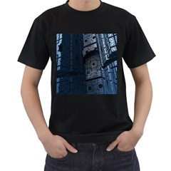 Graphic Design Background Men s T-Shirt (Black) (Two Sided)