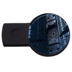 Graphic Design Background Usb Flash Drive Round (4 Gb)