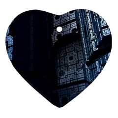 Graphic Design Background Heart Ornament (two Sides)