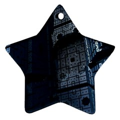 Graphic Design Background Star Ornament (Two Sides)