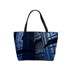 Graphic Design Background Shoulder Handbags