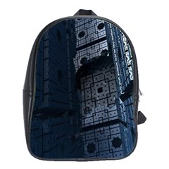 Graphic Design Background School Bags(Large)