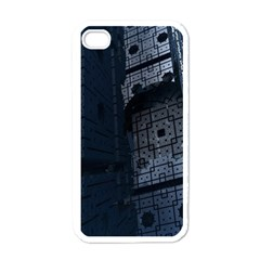 Graphic Design Background Apple iPhone 4 Case (White)