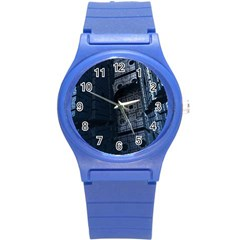 Graphic Design Background Round Plastic Sport Watch (s)