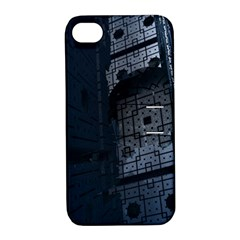 Graphic Design Background Apple Iphone 4/4s Hardshell Case With Stand