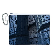 Graphic Design Background Canvas Cosmetic Bag (l)