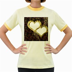 Lover Romantic Couple Apart Women s Fitted Ringer T Shirts