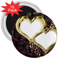 Lover Romantic Couple Apart 3  Magnets (10 Pack)