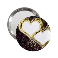 Lover Romantic Couple Apart 2 25  Handbag Mirrors