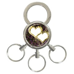 Lover Romantic Couple Apart 3-Ring Key Chains