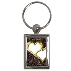 Lover Romantic Couple Apart Key Chains (rectangle)