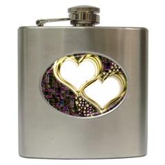 Lover Romantic Couple Apart Hip Flask (6 Oz)