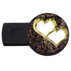 Lover Romantic Couple Apart Usb Flash Drive Round (2 Gb)