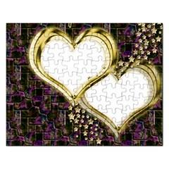 Lover Romantic Couple Apart Rectangular Jigsaw Puzzl