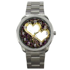 Lover Romantic Couple Apart Sport Metal Watch