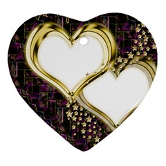 Lover Romantic Couple Apart Heart Ornament (two Sides)