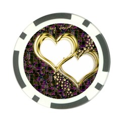 Lover Romantic Couple Apart Poker Chip Card Guard