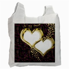 Lover Romantic Couple Apart Recycle Bag (two Side)
