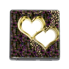 Lover Romantic Couple Apart Memory Card Reader (Square)