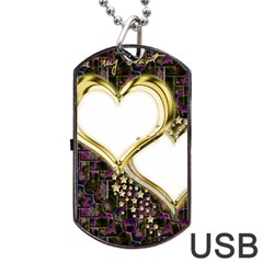 Lover Romantic Couple Apart Dog Tag USB Flash (Two Sides)
