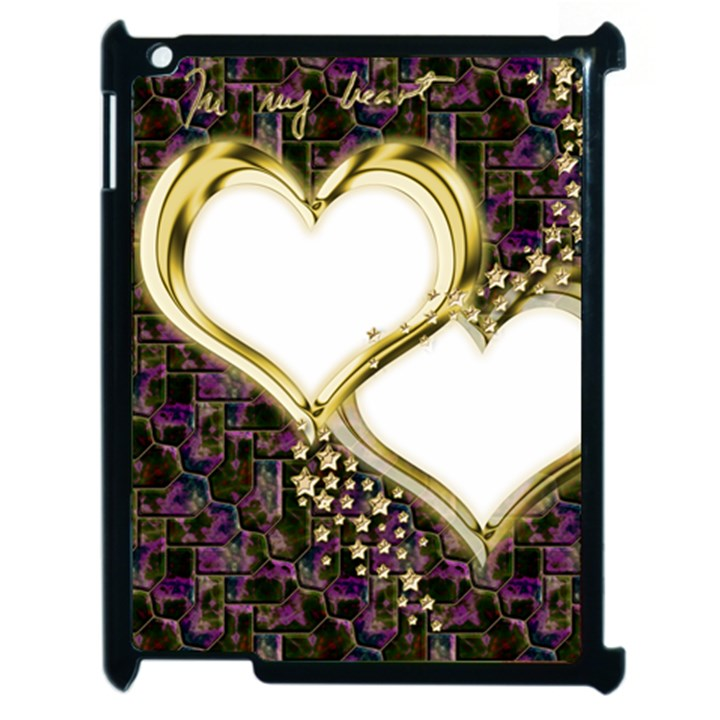 Lover Romantic Couple Apart Apple iPad 2 Case (Black)