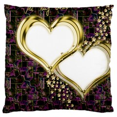 Lover Romantic Couple Apart Large Cushion Case (Two Sides)