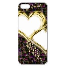 Lover Romantic Couple Apart Apple Seamless Iphone 5 Case (clear)