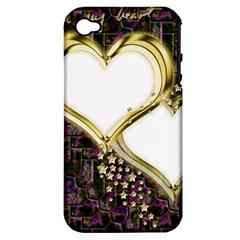 Lover Romantic Couple Apart Apple iPhone 4/4S Hardshell Case (PC+Silicone)