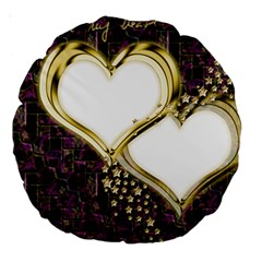 Lover Romantic Couple Apart Large 18  Premium Round Cushions