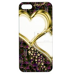 Lover Romantic Couple Apart Apple Iphone 5 Hardshell Case With Stand