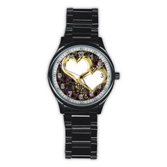 Lover Romantic Couple Apart Stainless Steel Round Watch