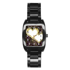 Lover Romantic Couple Apart Stainless Steel Barrel Watch