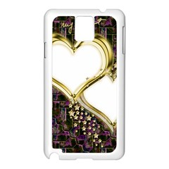 Lover Romantic Couple Apart Samsung Galaxy Note 3 N9005 Case (white)
