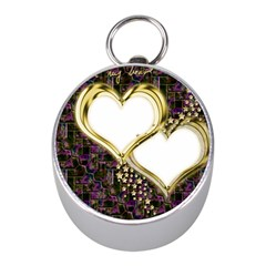 Lover Romantic Couple Apart Mini Silver Compasses