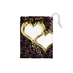 Lover Romantic Couple Apart Drawstring Pouches (Small)