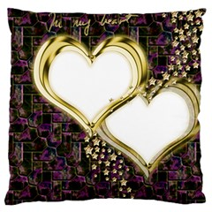Lover Romantic Couple Apart Standard Flano Cushion Case (two Sides)