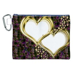 Lover Romantic Couple Apart Canvas Cosmetic Bag (XXL)