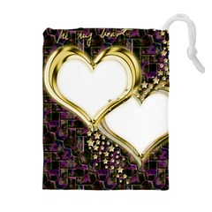 Lover Romantic Couple Apart Drawstring Pouches (extra Large)