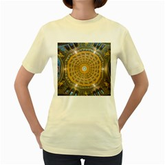Arches Architecture Cathedral Women s Yellow T Shirt