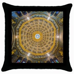 Arches Architecture Cathedral Throw Pillow Case (black)