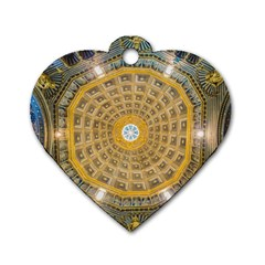 Arches Architecture Cathedral Dog Tag Heart (two Sides)