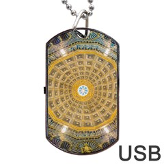 Arches Architecture Cathedral Dog Tag Usb Flash (one Side)