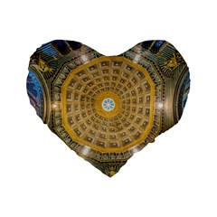 Arches Architecture Cathedral Standard 16  Premium Flano Heart Shape Cushions