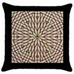 Kaleidoscope Online Triangle Throw Pillow Case (black)