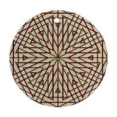 Kaleidoscope Online Triangle Round Ornament (two Sides)