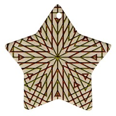 Kaleidoscope Online Triangle Star Ornament (two Sides)