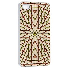 Kaleidoscope Online Triangle Apple iPhone 4/4s Seamless Case (White)